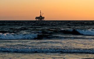 Oil exploration in the sea