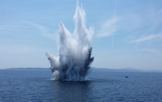 explosion in the ocean