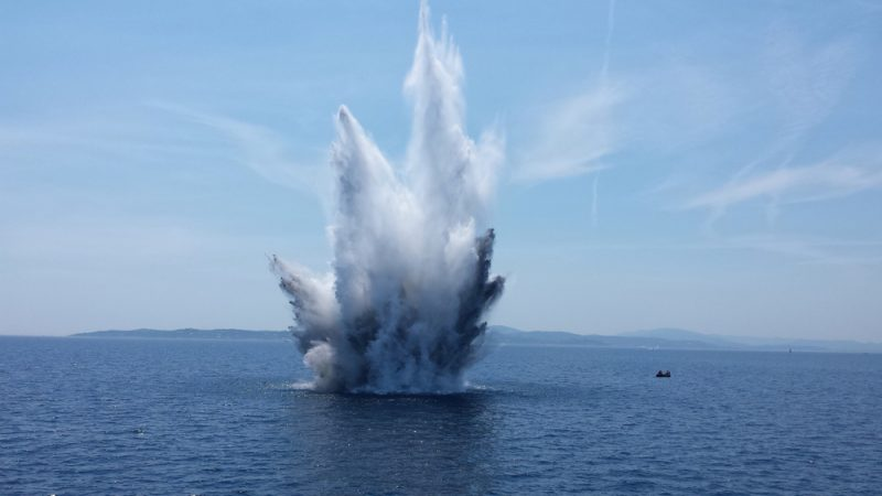 explosion in the ocean